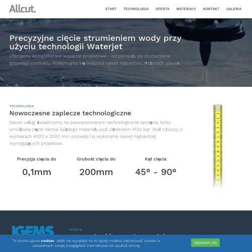 Cięcie wodą stali kwasoodpornej w Piasecznie