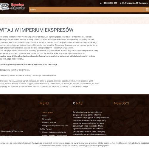 Używany ekspres kolbowy z gwarancją w Warszawie