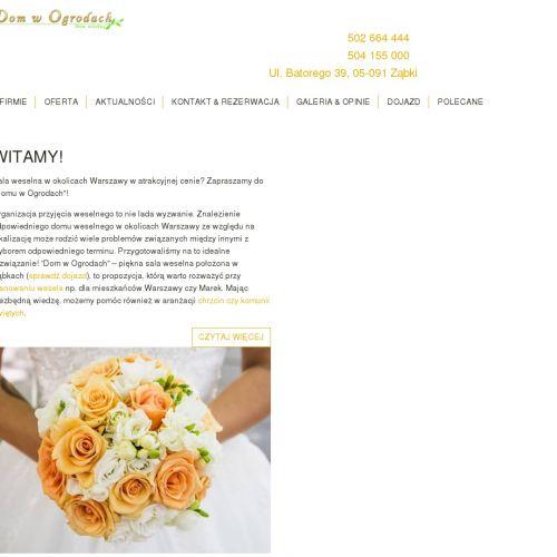 Lokal na wesele w Zielonce
