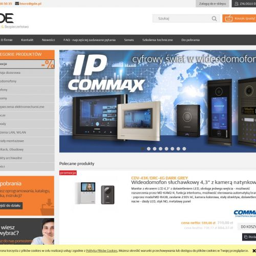 Wideodomofony commax