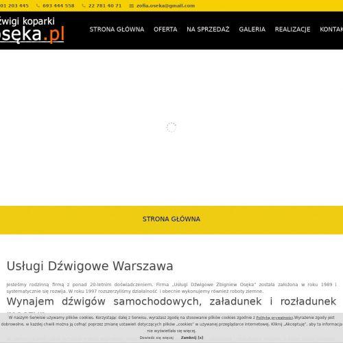 Wynajem dźwigów - Warszawa