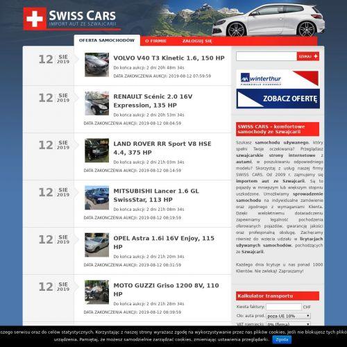 Sprowadzenie samochodu ze szwajcarii
