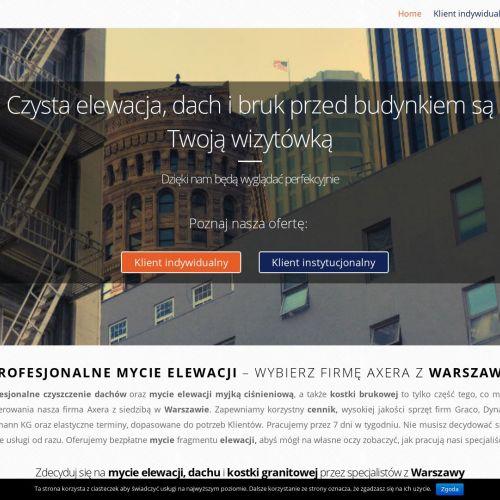 Warszawa - mycie fasad szklanych