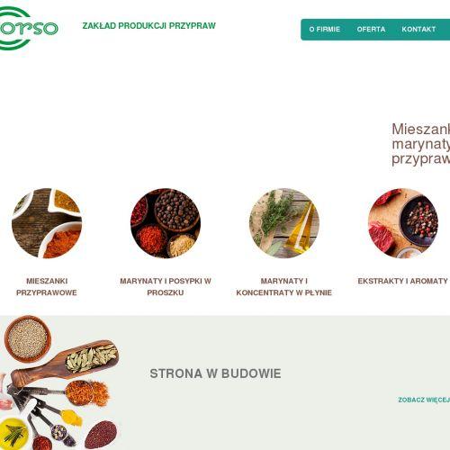 Producent aromatów do przemysłu spożywczego