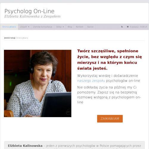 Sesje z psychologiem przez internet