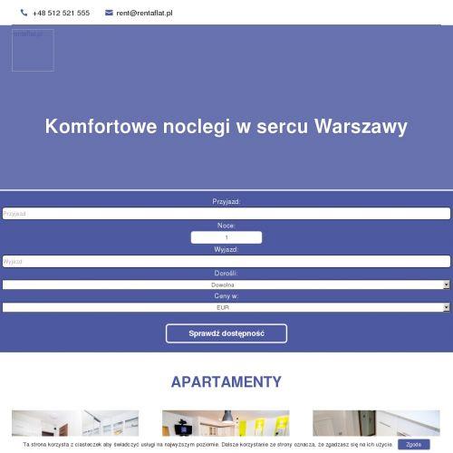 Warszawa - wynajem noclegu