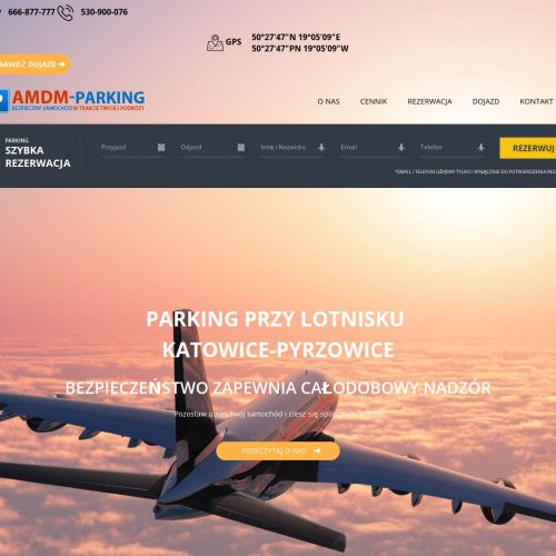 Parking z transferem na lotnisko - Katowice