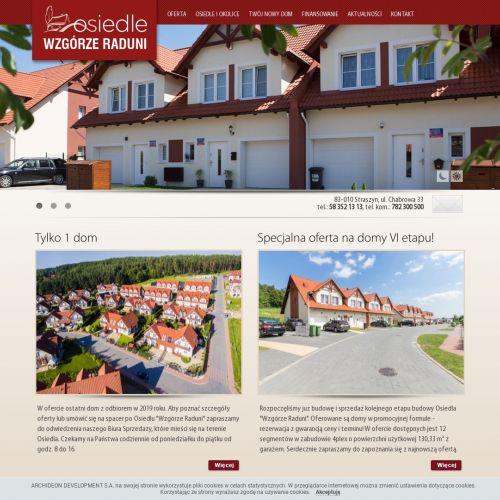 Gdańsk - domy na nowym osiedlu