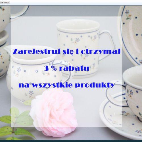 Talerze deserowe z porcelany