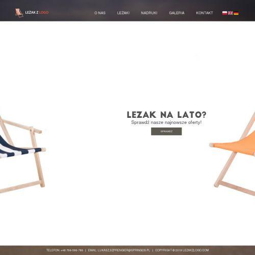 Tanie leżaki reklamowe na zamówienie w Krakowie