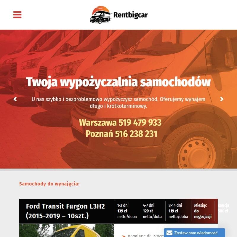 Wynajem auta dostawczego łowicz w Łowiczu