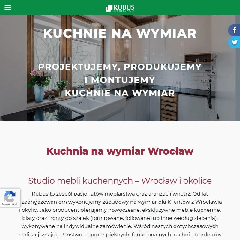 Meble kuchenne na wymiar ceny Wrocław