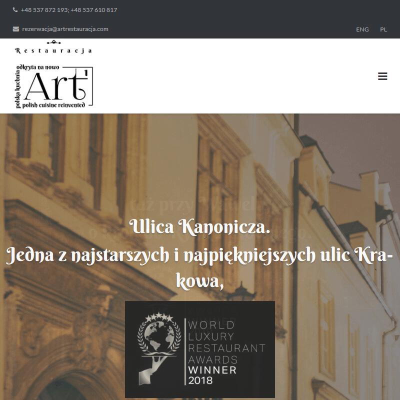 Kraków - art restauracja