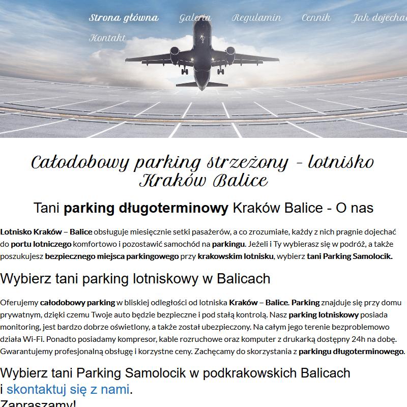 Lotnisko balice parking - Kraków
