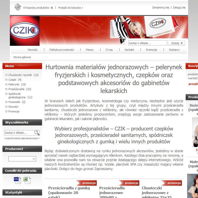 Hurtownia pelerynek jednorazowych kosmetycznych w Płocku
