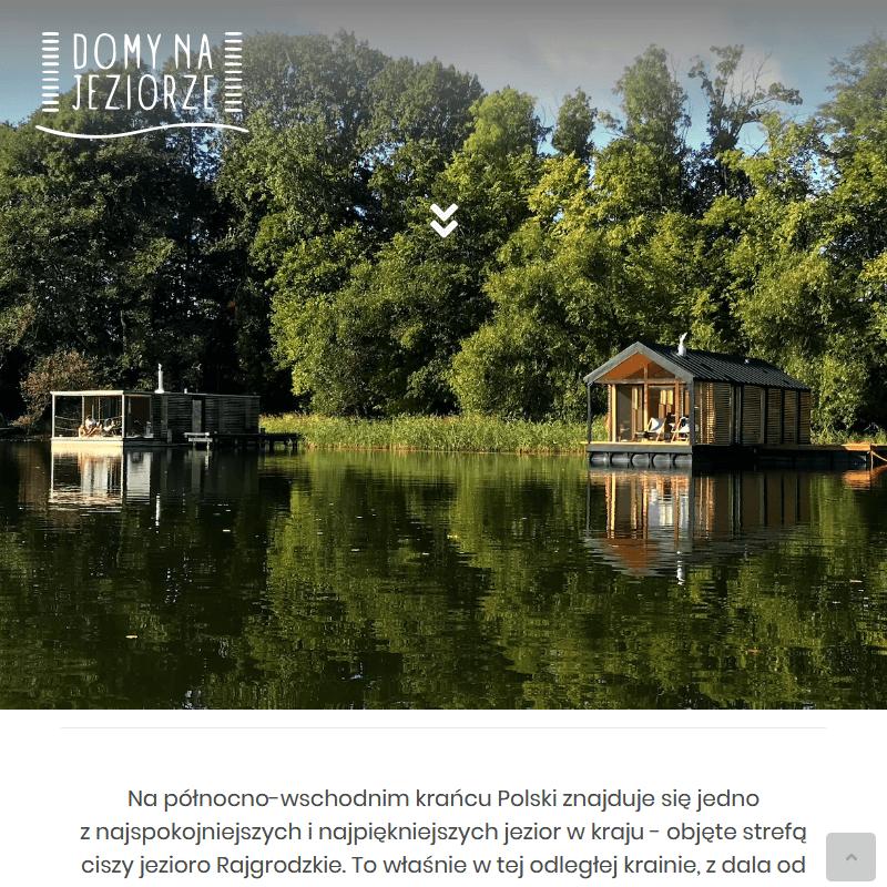 Warszawa - pływające domki na jeziorze do wynajęcia mazury