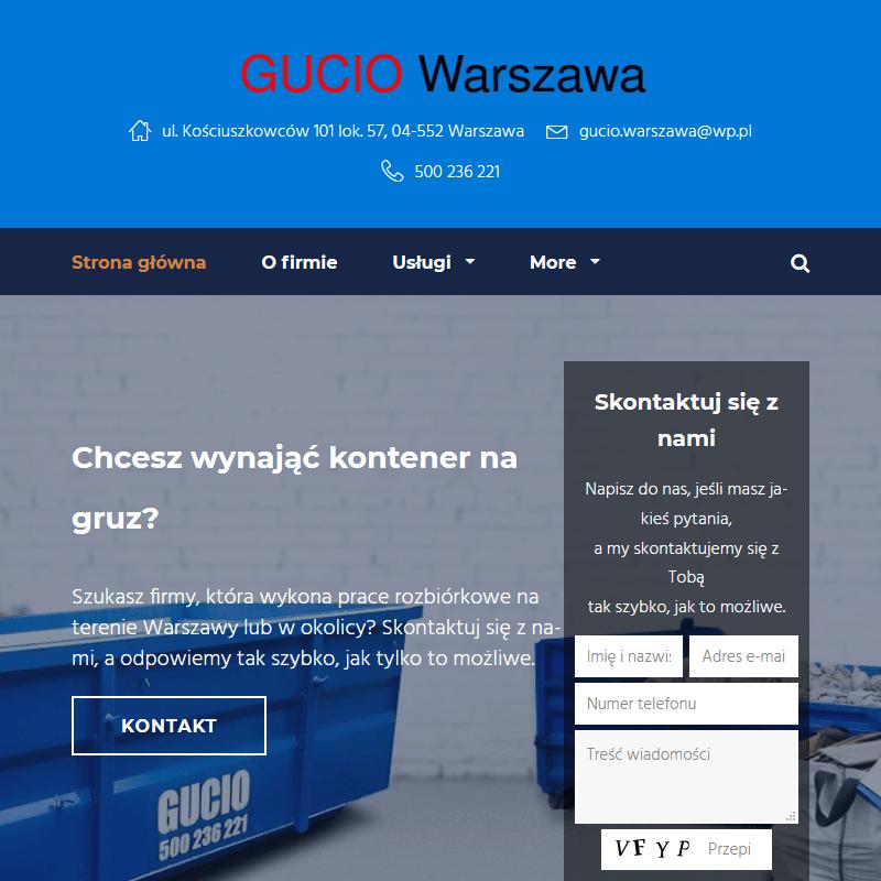 Warszawa - firma wywóz gruzu