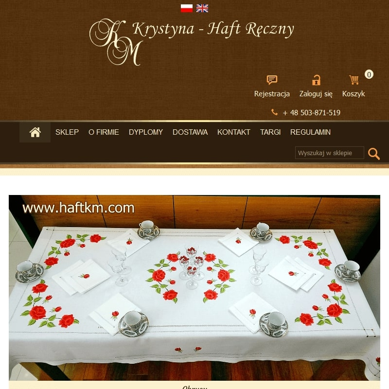 Serwetki obiadowe ręcznie haftowane