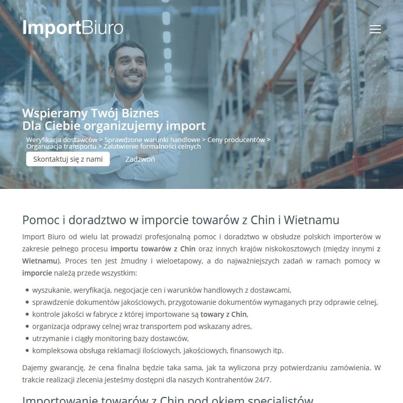 Import z chin pomoc