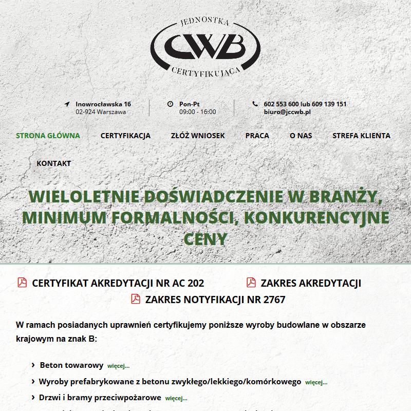 Warszawa - certyfikacja kruszyw