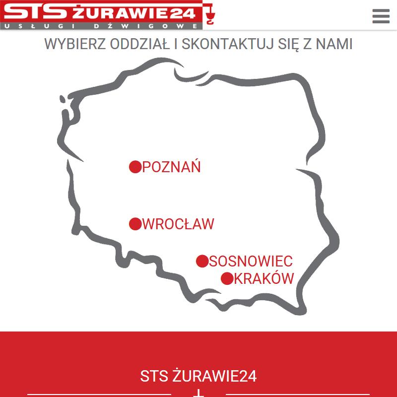 Kraków - usługi żurawiem